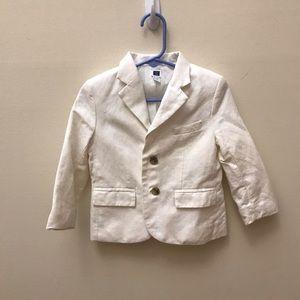 Janie and Jack 18-24 month white linen blazer